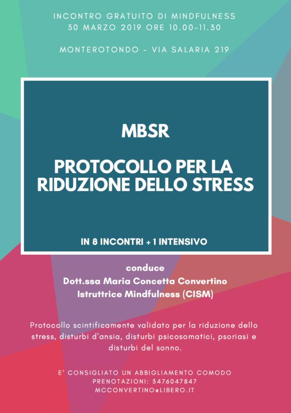 MBSR – Protocollo per la riduzione dello stress